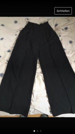 Mango Pantalón de cintura alta negro