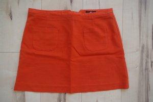 High waist Mini-Rock von H&M mit 2 Taschen vorne in knalligem orange