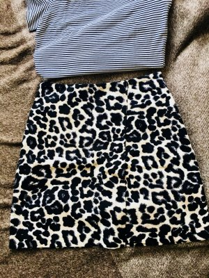 High Waist Minirock von New Look Leoprint
