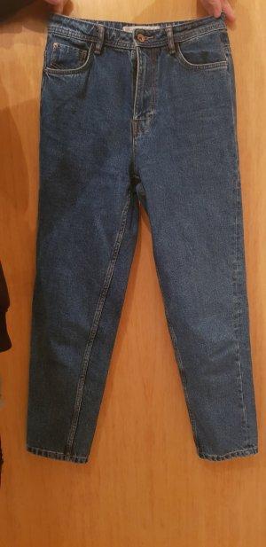 Zara Trafaluc Hoge taille jeans blauw-donkerblauw
