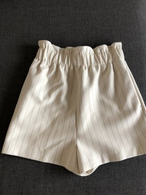 Ganni Short taille haute crème-blanc cassé