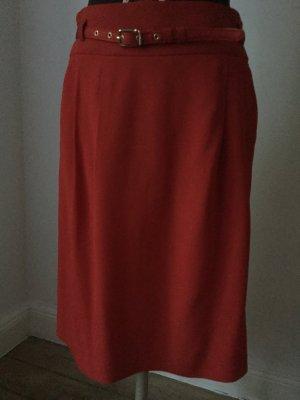 Strenesse Falda de talle alto rojo