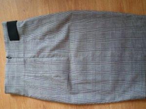 Amisu Jupe taille haute noir-blanc polyester