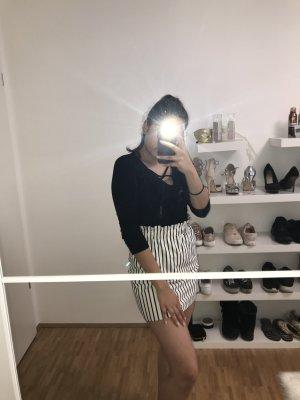 Bershka High Waist Skirt white-black