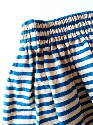 Vintage Flared Skirt oatmeal-blue linen