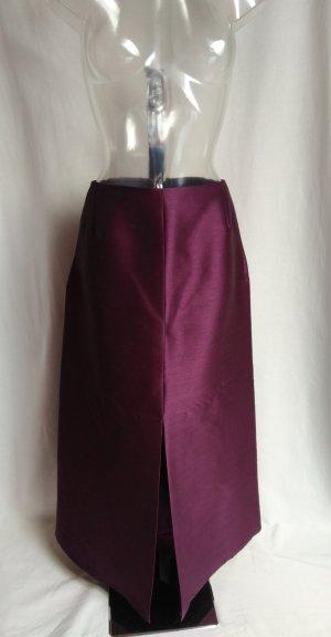 Falda de talle alto violeta-violeta oscuro