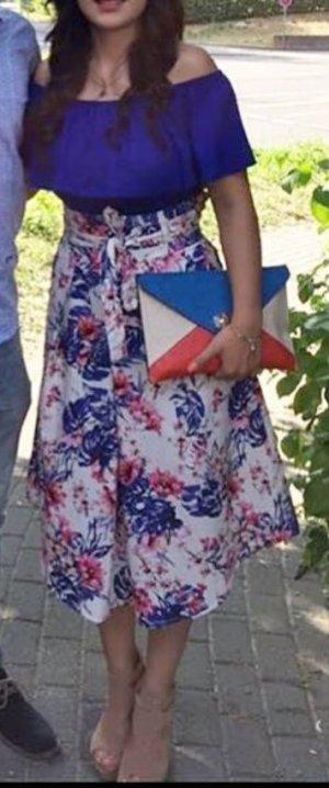 Promod Falda de talle alto multicolor
