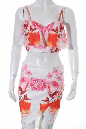 High Waist Rock florales Muster Romantik-Look