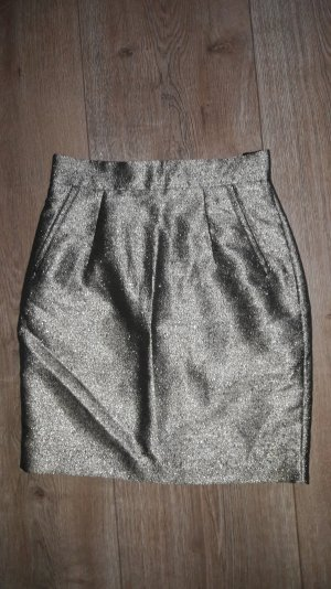 high waist Rock h&m gr. 38 Silber