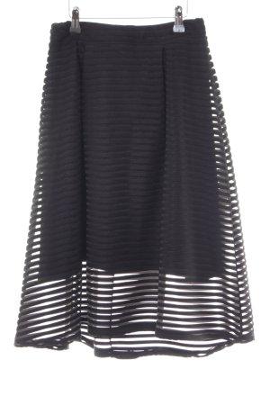 Falda de talle alto negro elegante