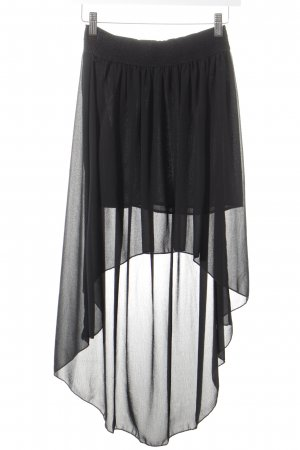 Falda de talle alto negro estilo fiesta
