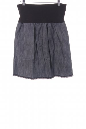 High Waist Rock schwarz-stahlblau Casual-Look