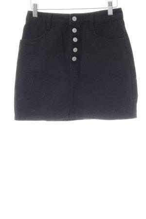 Falda de talle alto negro look vintage