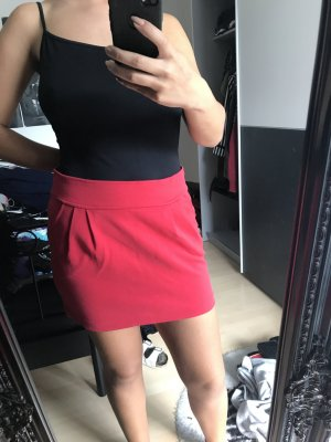 High waist Roter Rock in rot