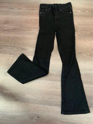 H&M Denim Flares black