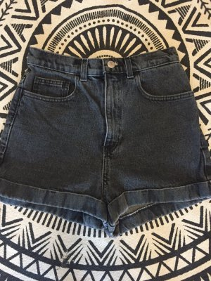 American Apparel Short taille haute gris foncé