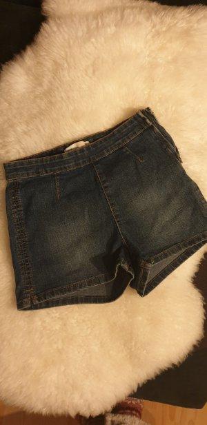 C&A Pantalón corto de talle alto azul oscuro