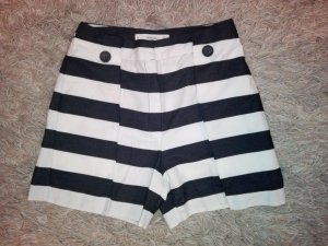 Mango High-Waist-Shorts white-black