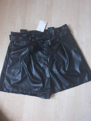 asos curve Pantalón corto de talle alto negro
