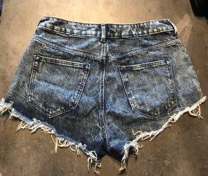 H&M High waist short korenblauw