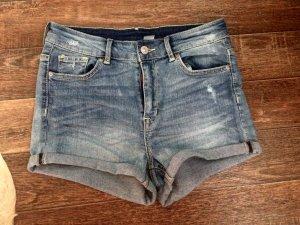 High waist Shorts, Blue Jeans, Festival, Blogger, H&M