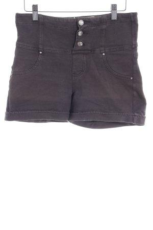 High-Waist-Shorts dunkelgrau Casual-Look
