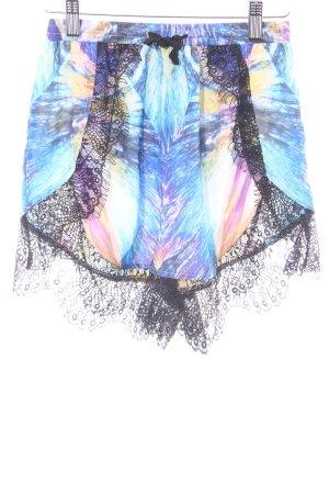 High-Waist-Shorts Farbverlauf extravaganter Stil