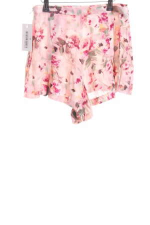 High-Waist-Shorts florales Muster Casual-Look