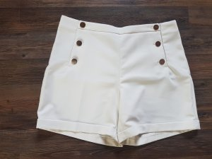 High Waist Shorts - Gold / Creme - Gr. 44 - H&M