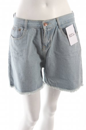 High-Waist-Shorts hellblau Vintage-Look
