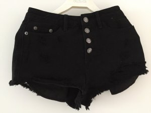 High Waist Shorts Jeans schwarz Gr 32
