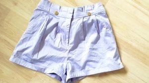 high waist Shorts lila gold