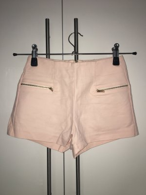 Bershka High-Waist-Shorts pink-gold-colored