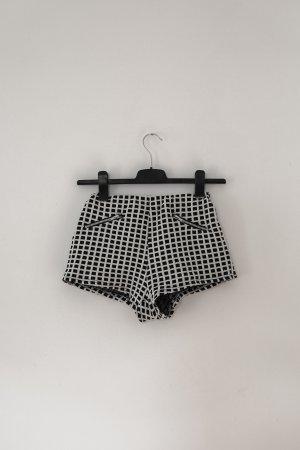 Urban Outfitters Short taille haute noir-blanc coton