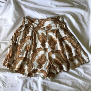 H&M High Waist Trousers white-gold-colored