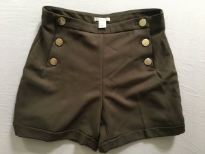 H&M Short taille haute brun