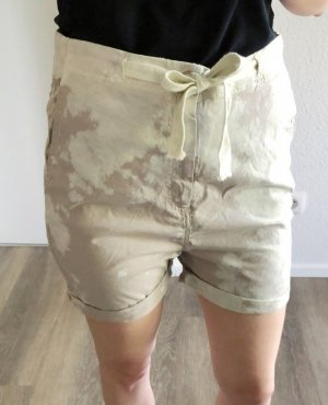 Penn & Ink Short taille haute beige clair-beige coton