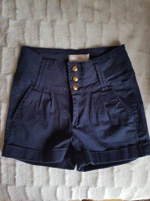 High waist shorts von Pieces dunkelblau