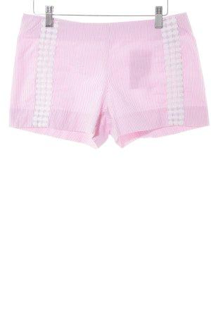 Short taille haute blanc-rose motif de tache style décontracté