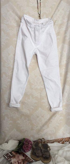 High Waist Skinny Jeans in weiß von H&M