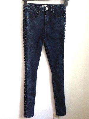 High Waist Skinny Jeans mit Cut Outs von Asos, Gr. 38 (passt auch Gr. 36)