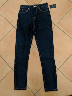 Forever 21 Hoge taille jeans donkerblauw