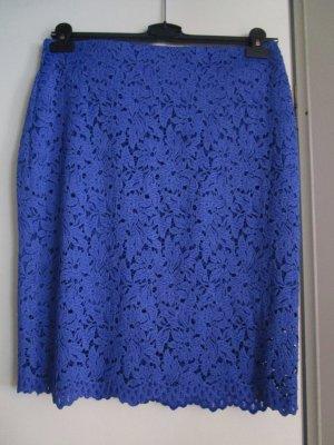 High Waist Spitzenrock find Größe L Blue