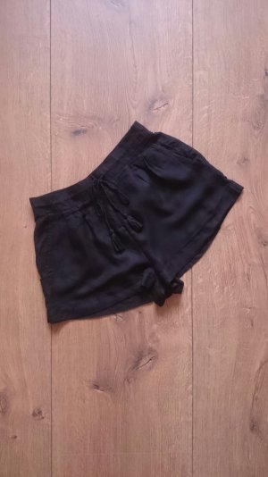 High Waist Stoff Shorts schwarz 36 S