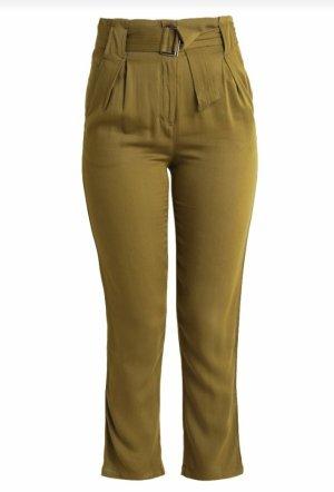 YAS Pantalon taille haute vert olive