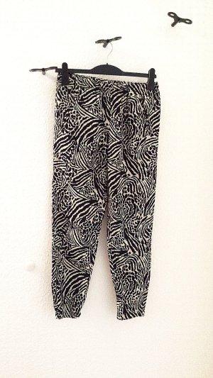H&M Pantalon en jersey noir-crème polyester