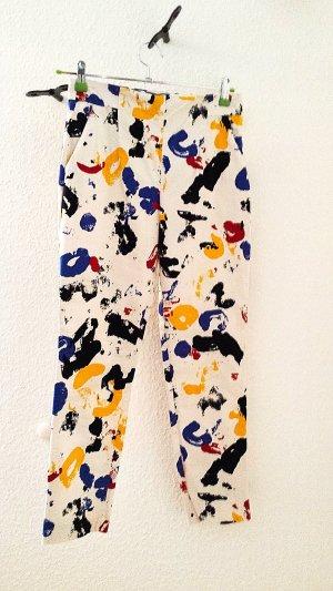 Zara Pantalone multicolore Cotone