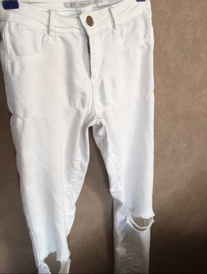 Zara Pantalone a vita alta bianco