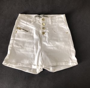Denim Co. Pantalone a vita alta bianco