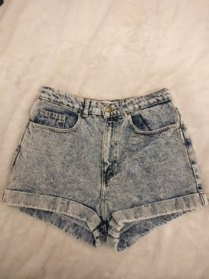 High Waisted Hot Pants Shorts im Acid Wash Look Limited Edition von American Apparel W29